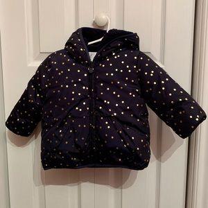 Baby Gap Reversible Sherpa Puffer Jacket 12-18 M